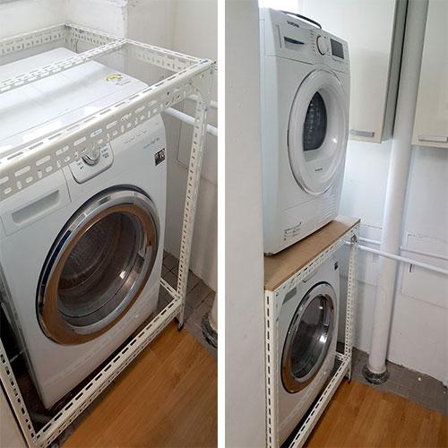 sya-998 드럼세탁기 앵글선반 고객 직접 조립