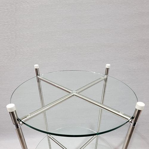 syc-502 콤비락 Ø15 2단 모듈콤비락 유리선반 타원 원형유리진열대 콤비락원형받침대