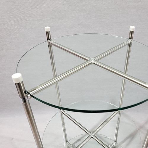 syc-503 콤비락 Ø15 3단 모듈콤비락 유리선반 타원 원형유리진열대 콤비락원형받침대