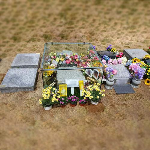 5면 사각 유리장 (뚜껑형) 주문 제작 가능비석 식수비 묘비석 기념비  syk-787